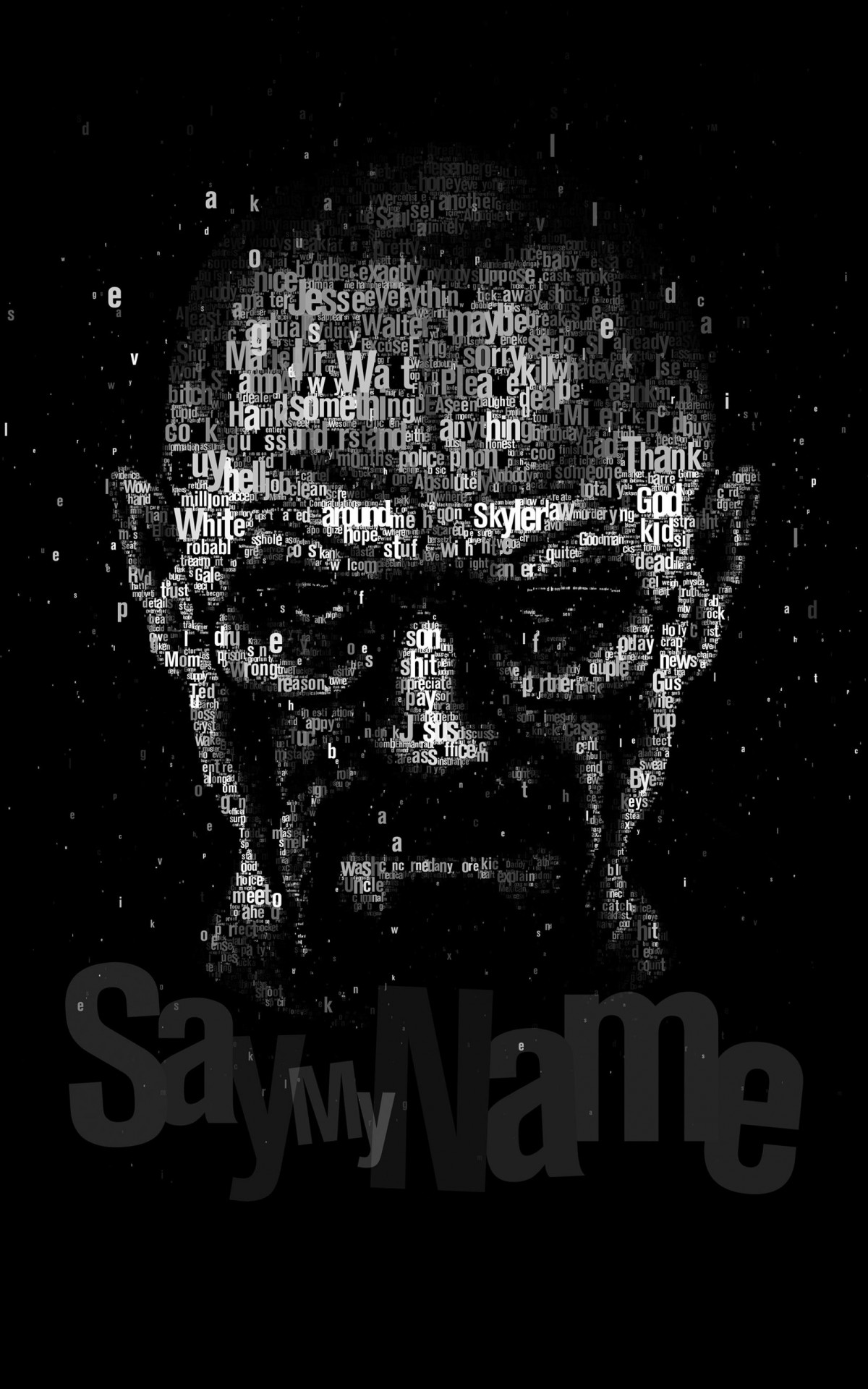 Say My Name - Typography Art Wallpaper for Amazon Kindle Fire HDX
