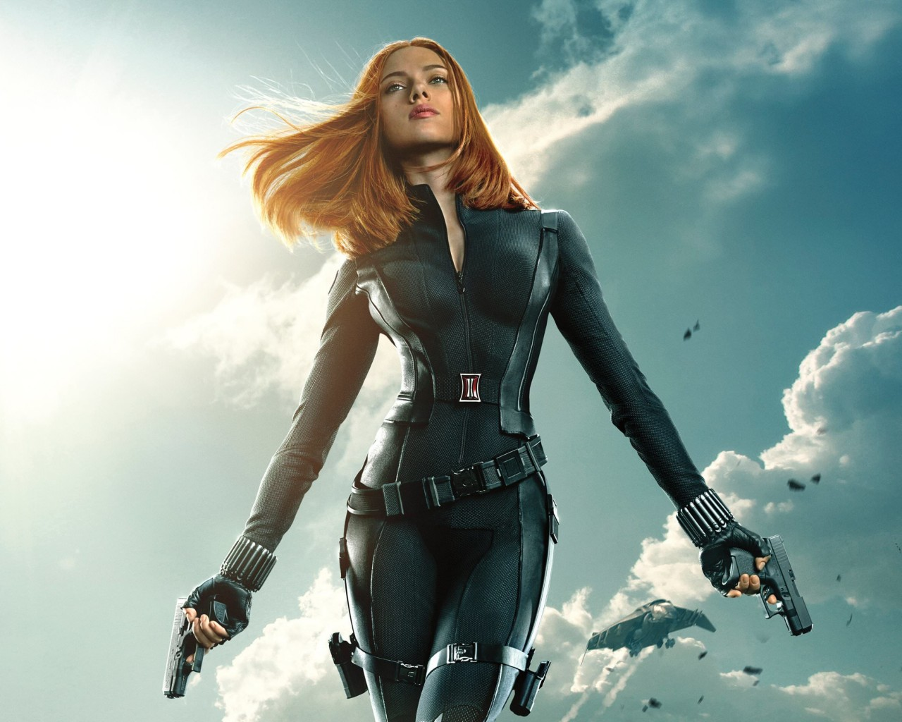 "Scarlett Johansson in ""Captain America: The Winter Soldier"" Wallpaper for Desktop 1280x1024"