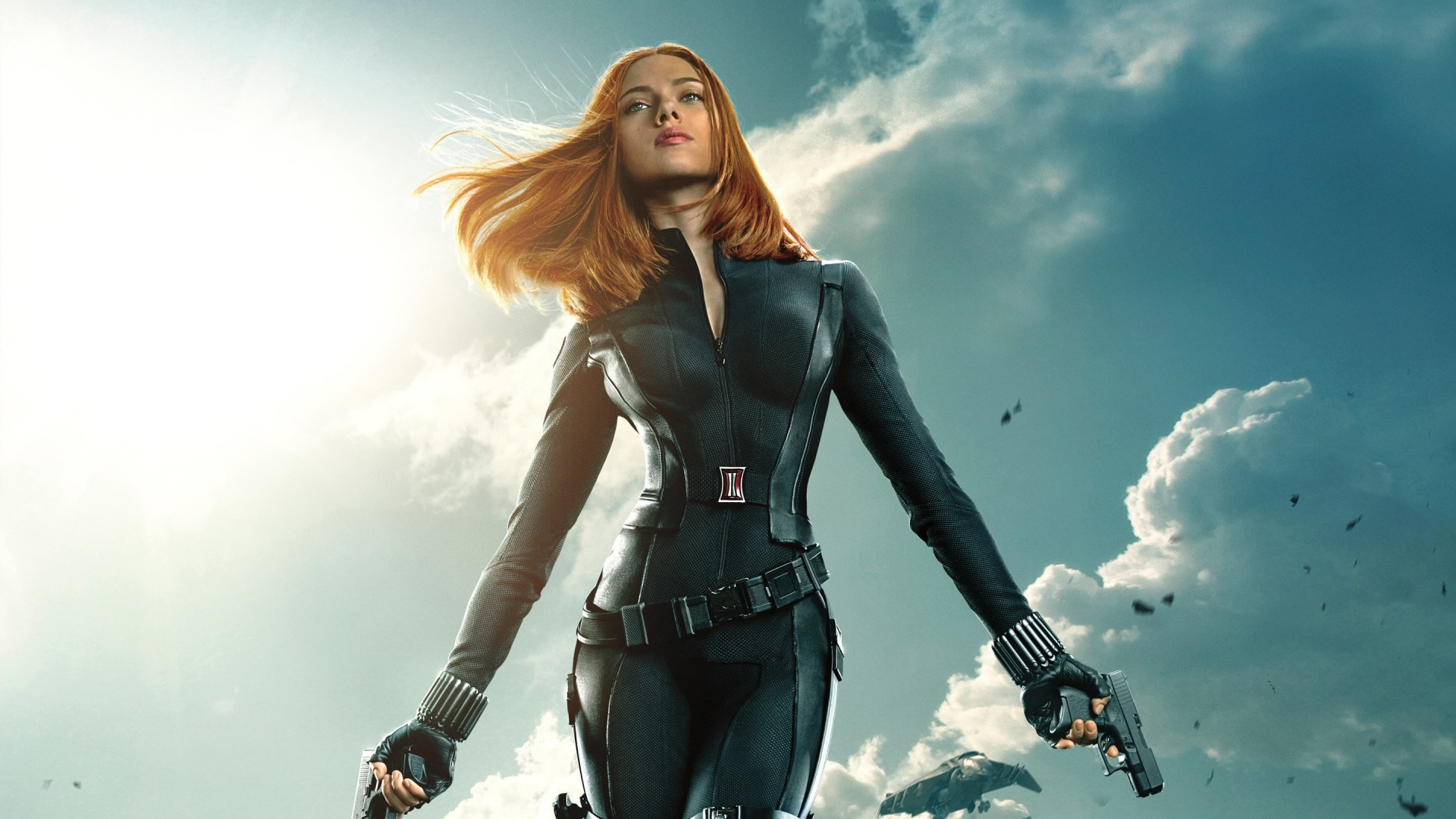 "Scarlett Johansson in ""Captain America: The Winter Soldier"" Wallpaper for Desktop 1920x1080"