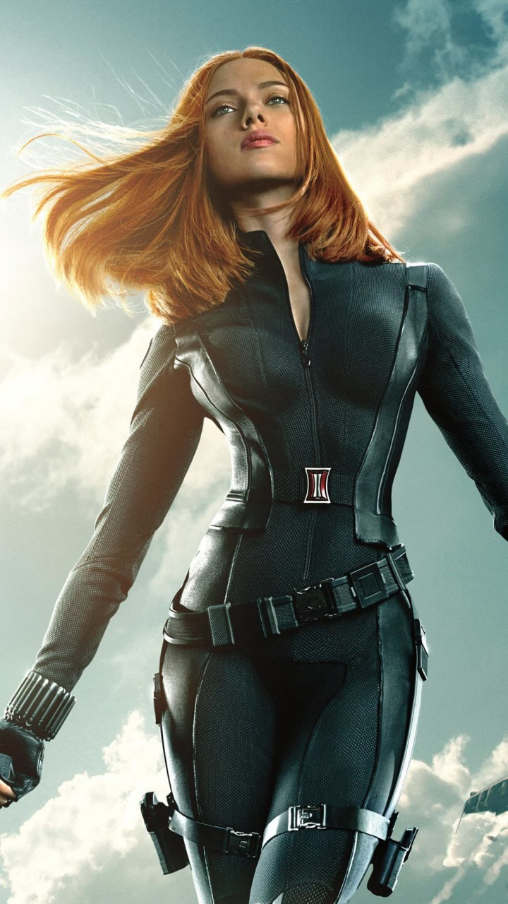 "Scarlett Johansson in ""Captain America: The Winter Soldier"" Wallpaper for SAMSUNG Galaxy S3"