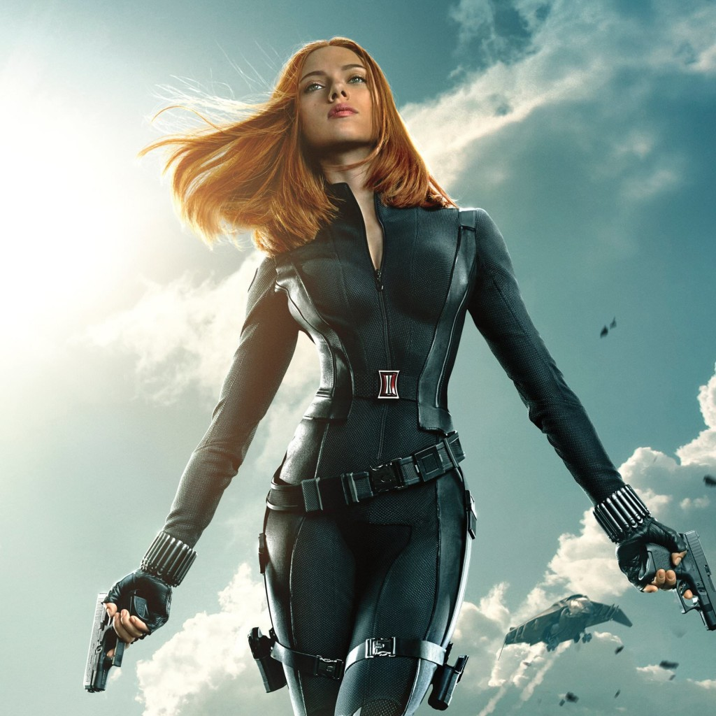 "Scarlett Johansson in ""Captain America: The Winter Soldier"" Wallpaper for Apple iPad 2"