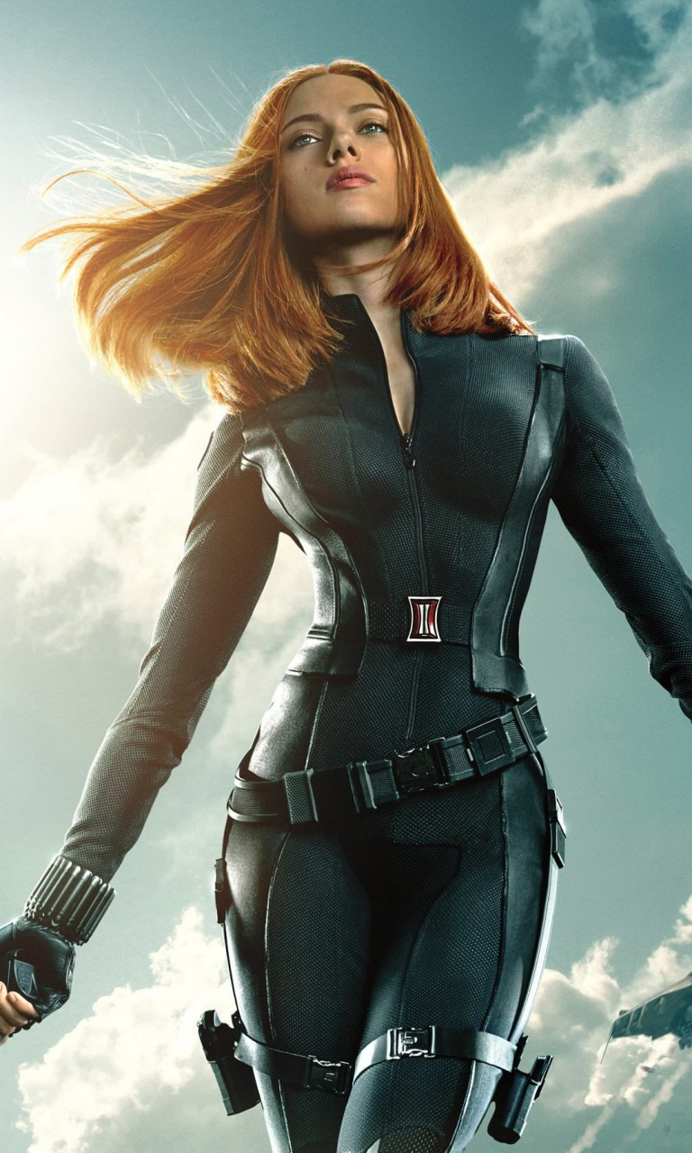 "Scarlett Johansson in ""Captain America: The Winter Soldier"" Wallpaper for Google Nexus 4"