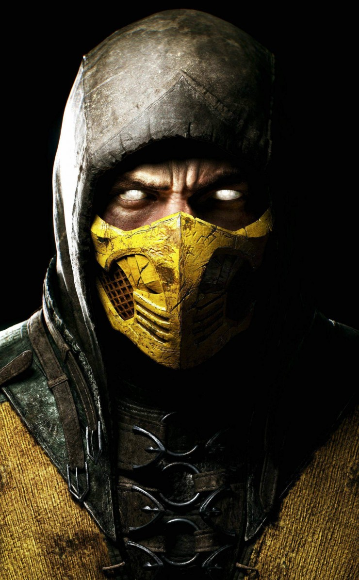 Scorpion Mortal Kombat X Wallpaper for Apple iPhone 4 / 4s