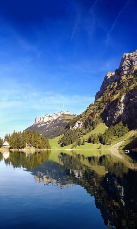 Seealpsee lake in Switzerland Wallpaper for HTC Desire HD