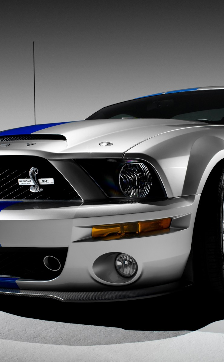 Shelby Mustang GT500KR Wallpaper for Apple iPhone 4 / 4s