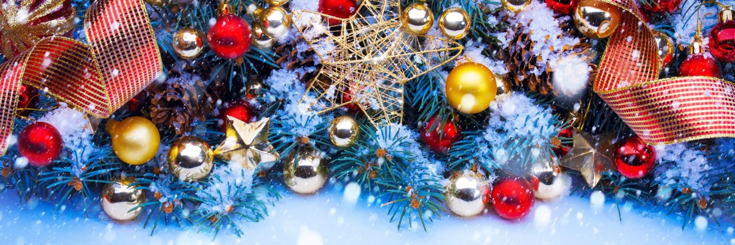 Shining Stars Christmas Ornaments and Decorations Wallpaper for Social Media Twitter Header