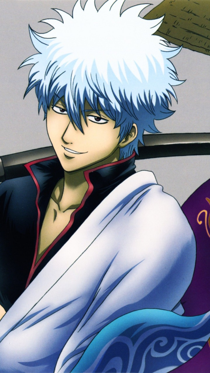 "Shinsuke Takasugi, Gintoki Sakata ""Gintama"" Wallpaper for HTC One mini"