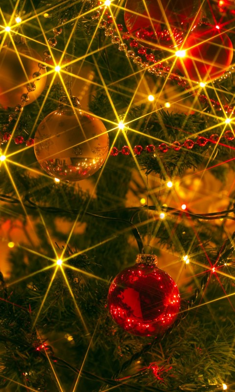 Shiny Christmas Wallpaper for HTC Desire HD