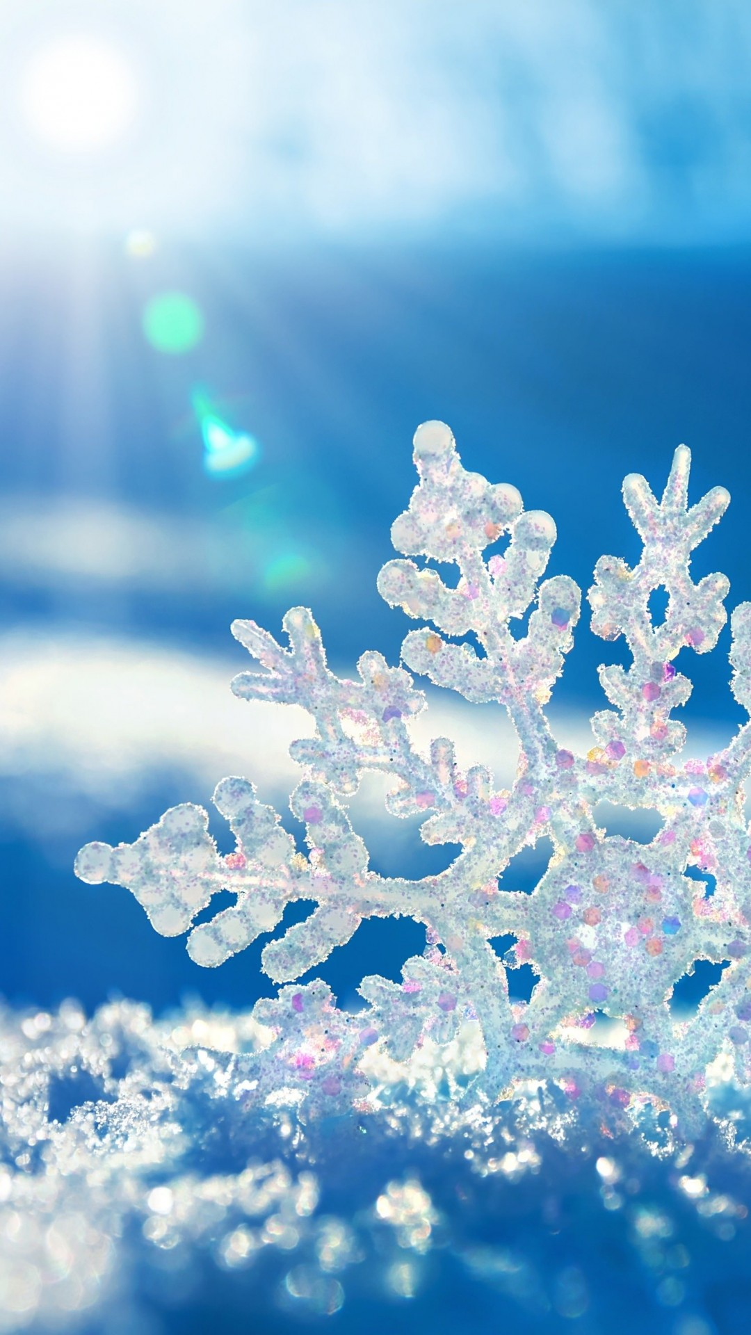 Snowflake Wallpaper for SONY Xperia Z2