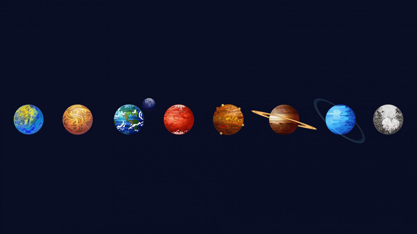 Solar System Wallpaper for Desktop 1366x768