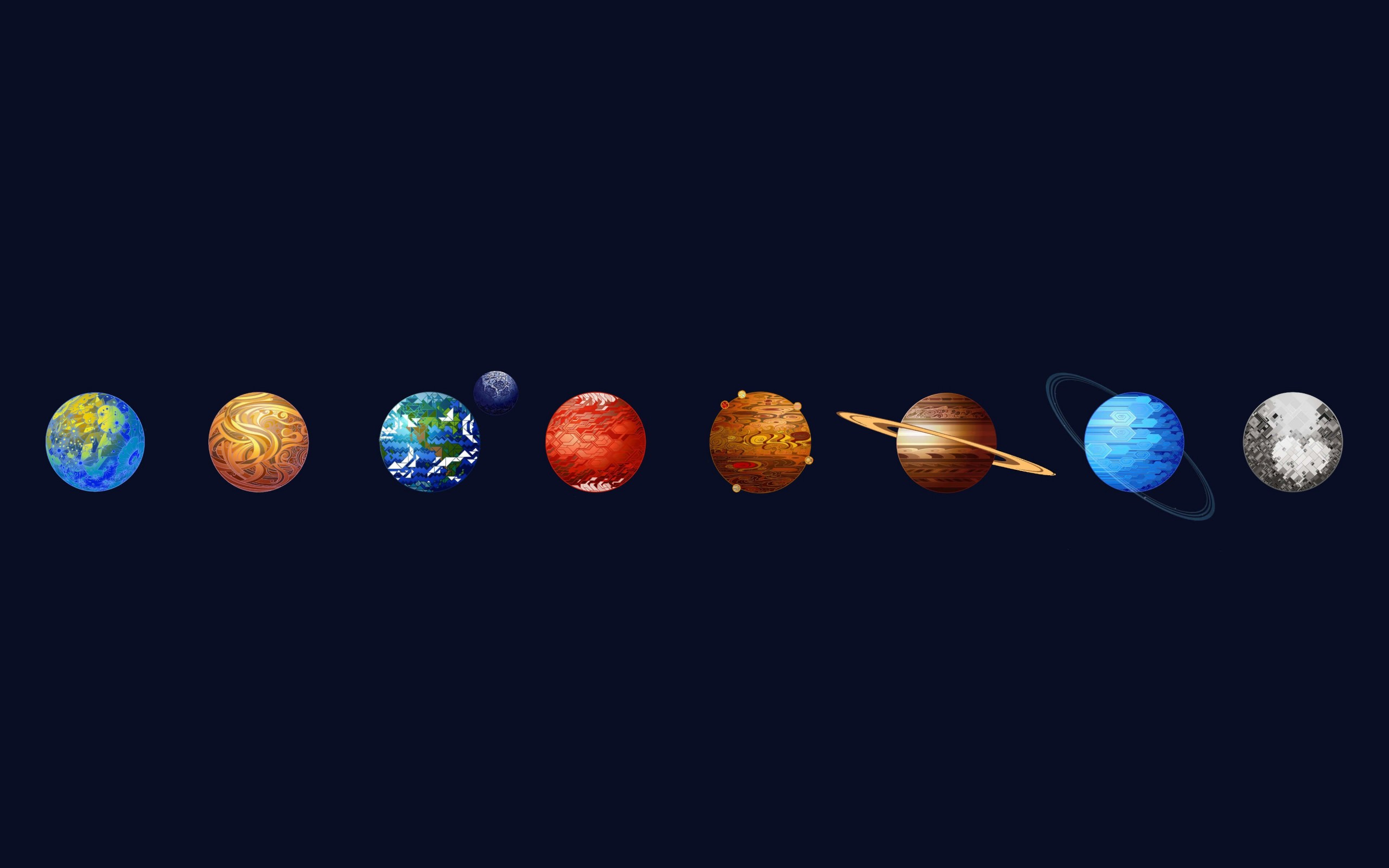 Solar System Wallpaper for Desktop 2560x1600