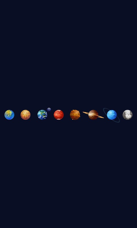 Solar System Wallpaper for SAMSUNG Galaxy S3 Mini