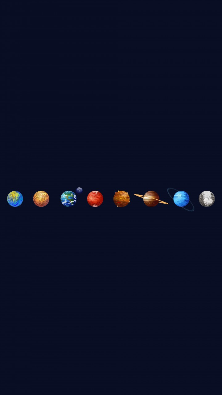 Solar System Wallpaper for HTC One X