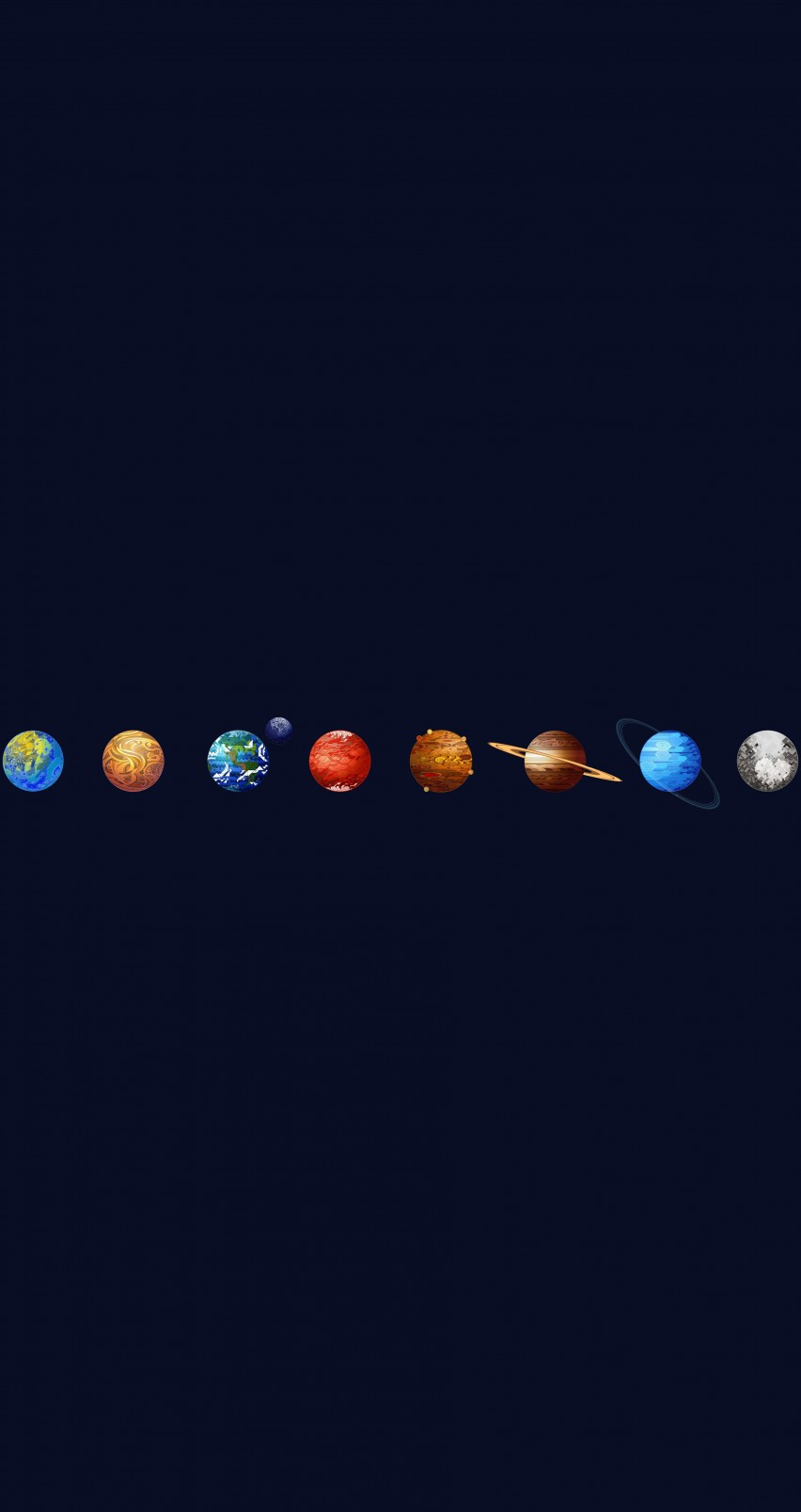Solar System Wallpaper for Apple iPhone 6 / 6s