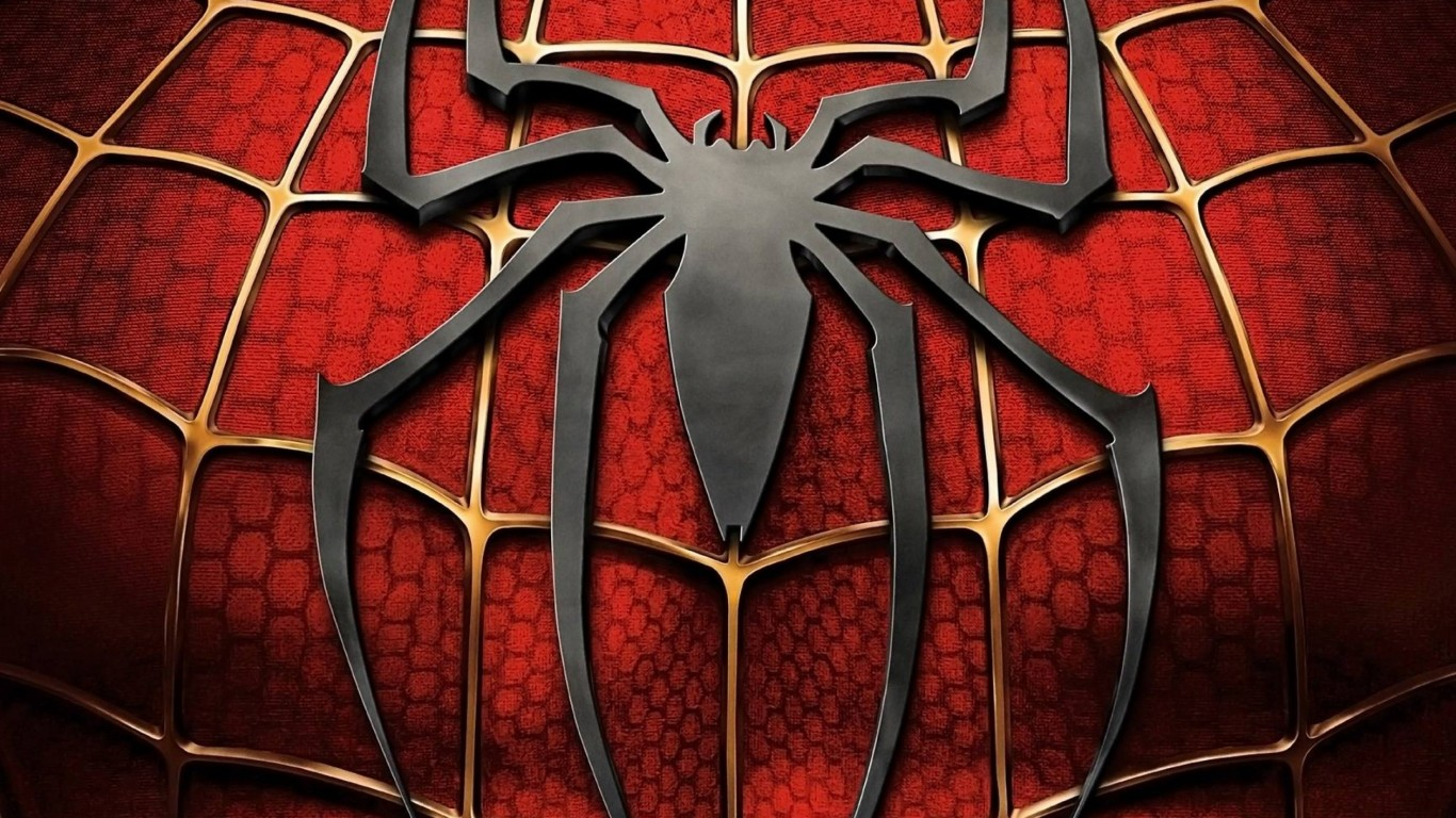 Spiderman Logo Wallpaper for Desktop 1366x768