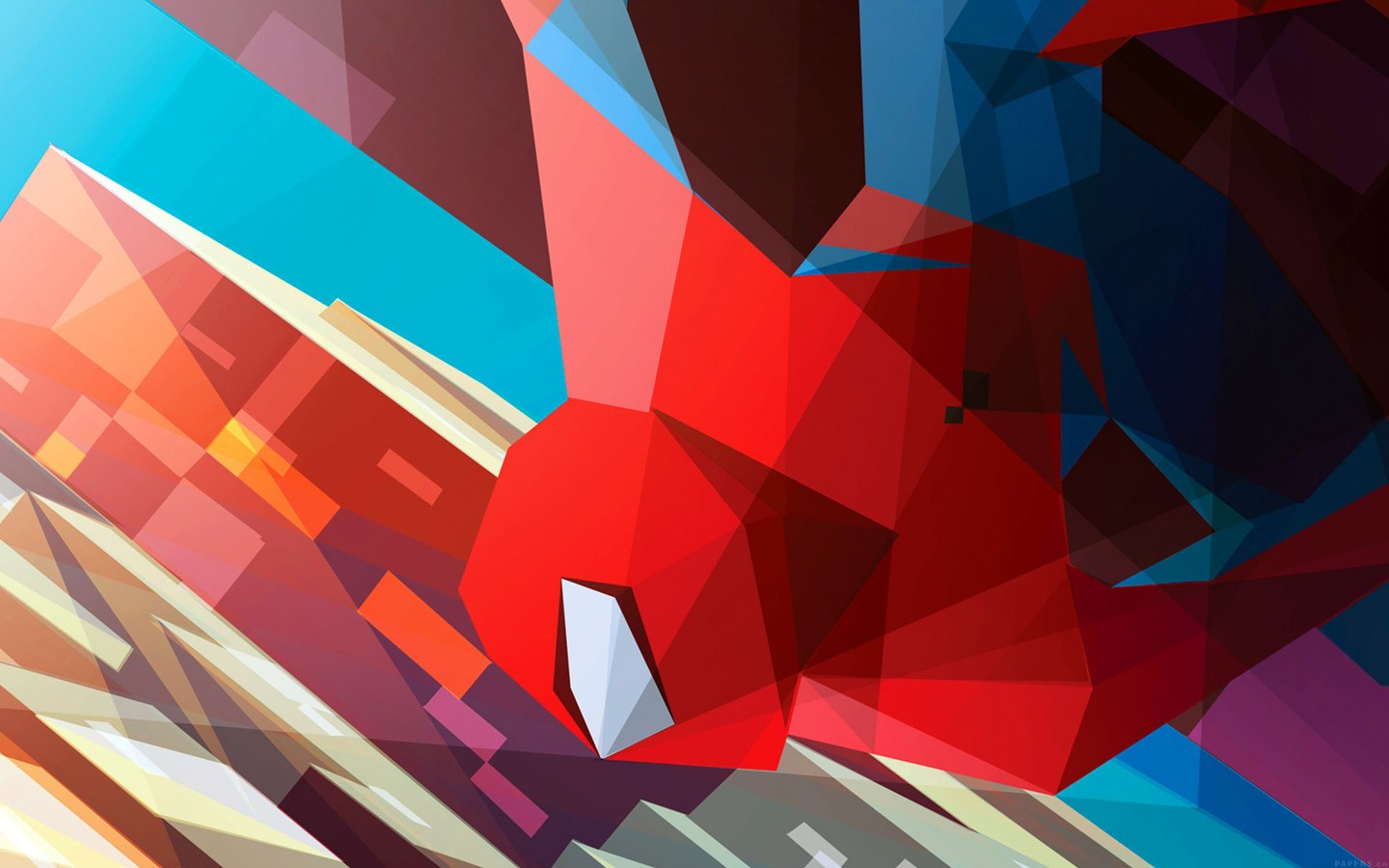 Spiderman Low Poly Illustration Wallpaper for Desktop 1440x900