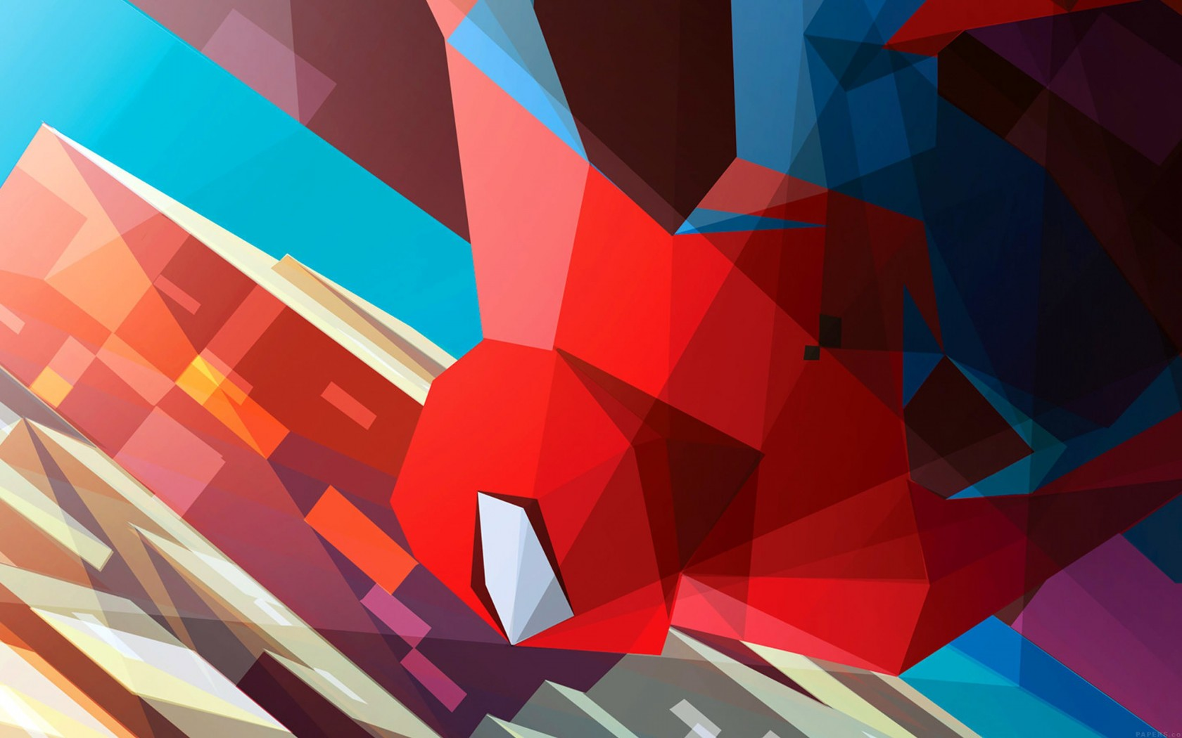 Spiderman Low Poly Illustration Wallpaper for Desktop 1680x1050