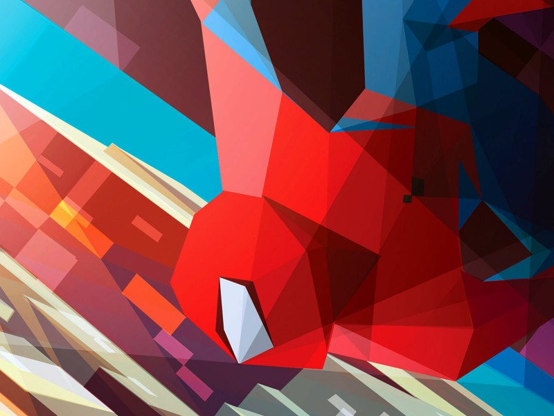 Spiderman Low Poly Illustration Wallpaper for Desktop 800x600