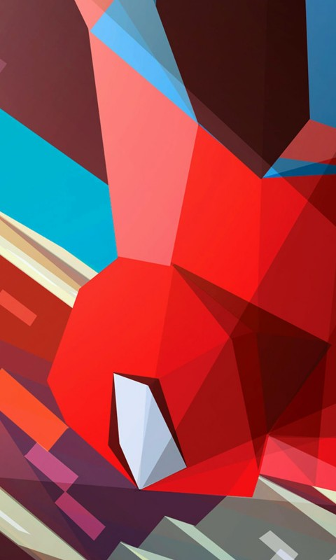 Spiderman Low Poly Illustration Wallpaper for HTC Desire HD
