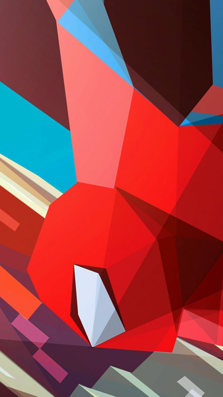Spiderman Low Poly Illustration Wallpaper for HTC One mini