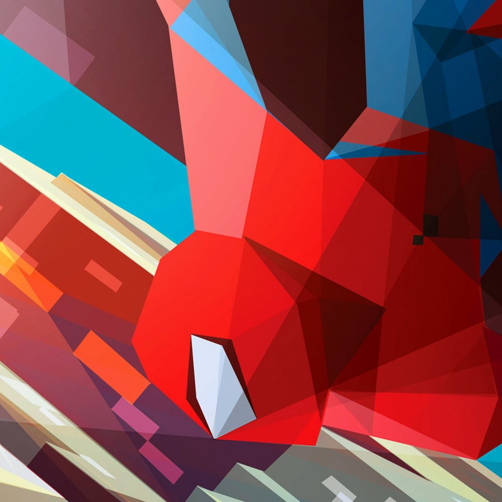 Spiderman Low Poly Illustration Wallpaper for Apple iPad 2