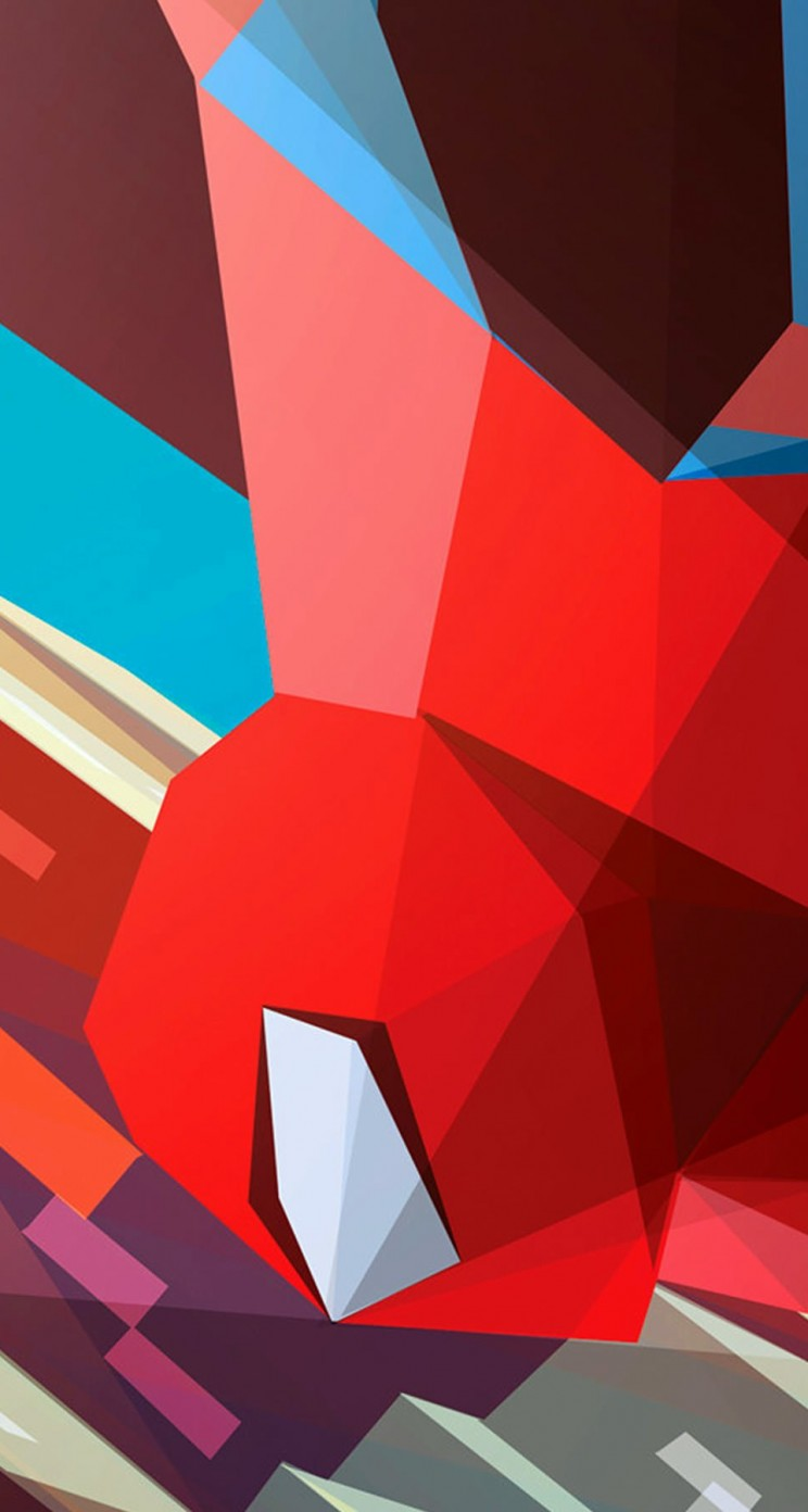 Spiderman Low Poly Illustration Wallpaper for Apple iPhone 5 / 5s