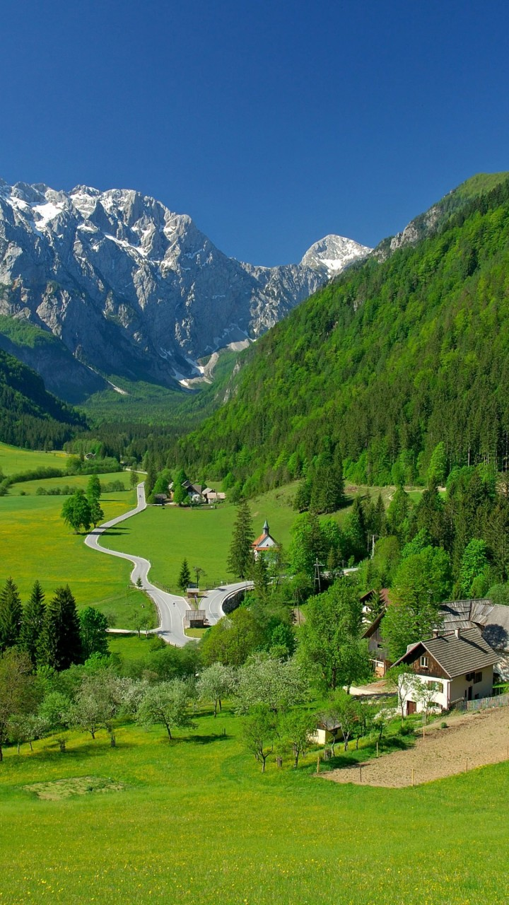 Spring In The Alpine Valley Wallpaper for SAMSUNG Galaxy Note 2