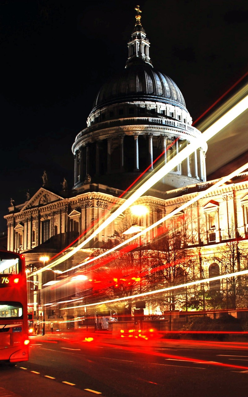 St. Paul's Cathedral at Night Wallpaper for Amazon Kindle Fire HD