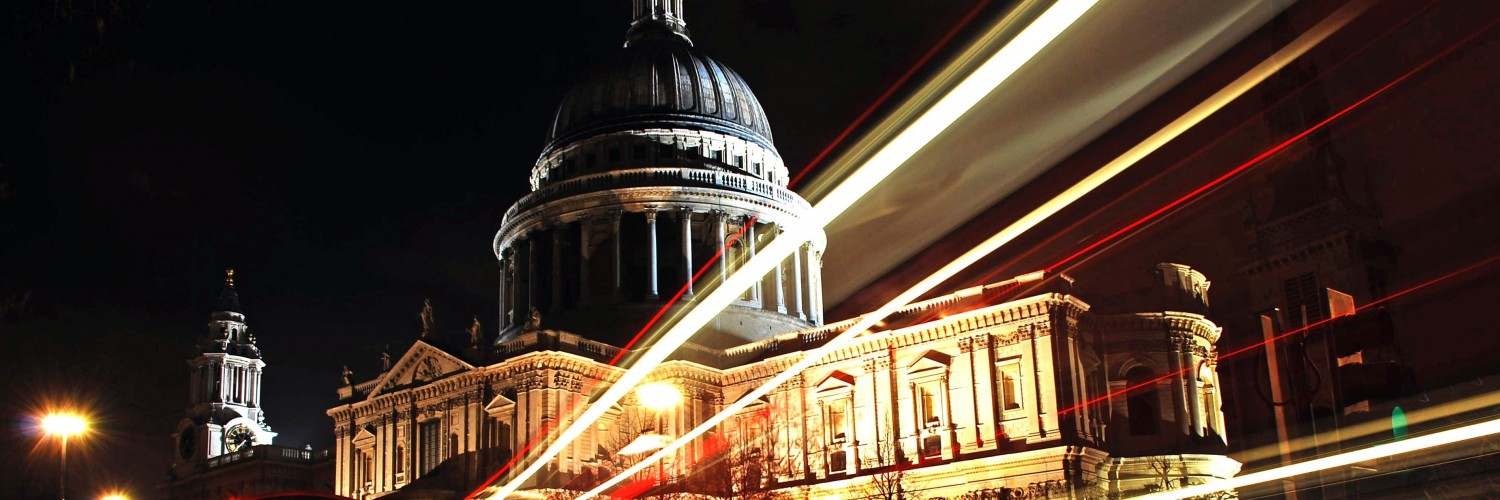 St. Paul's Cathedral at Night Wallpaper for Social Media Twitter Header