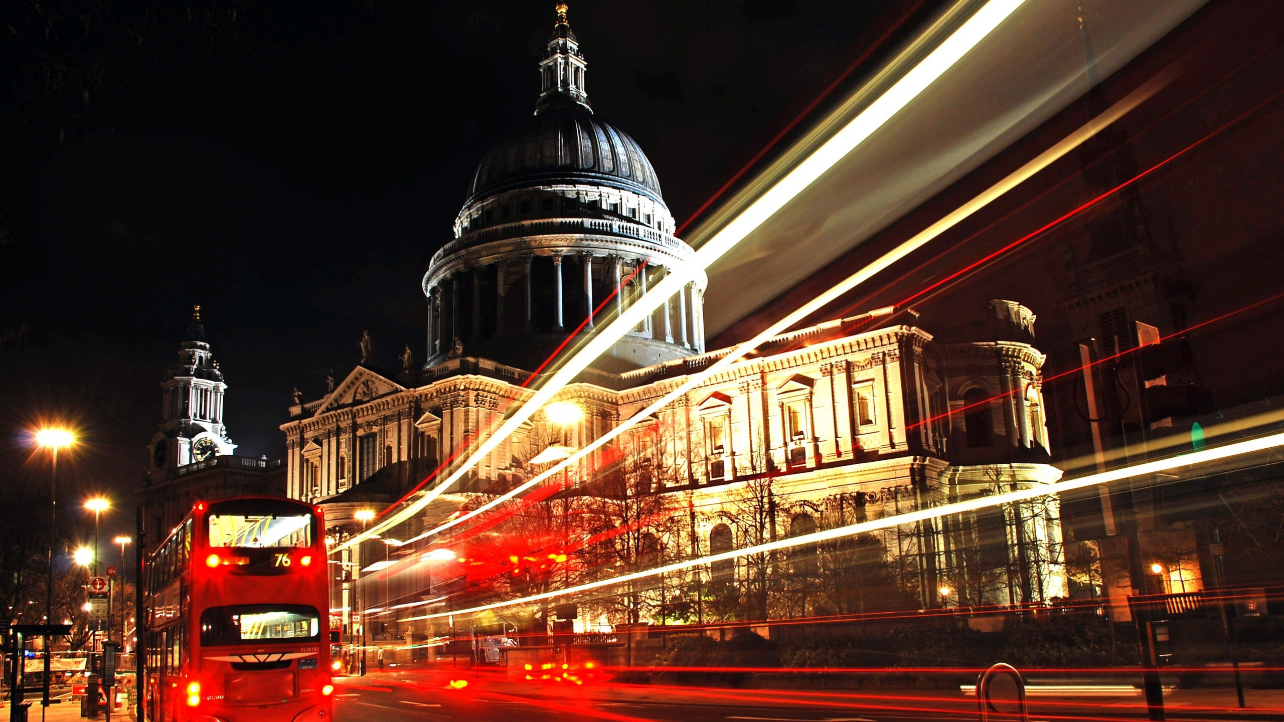 St. Paul's Cathedral at Night Wallpaper for Social Media YouTube Channel Art