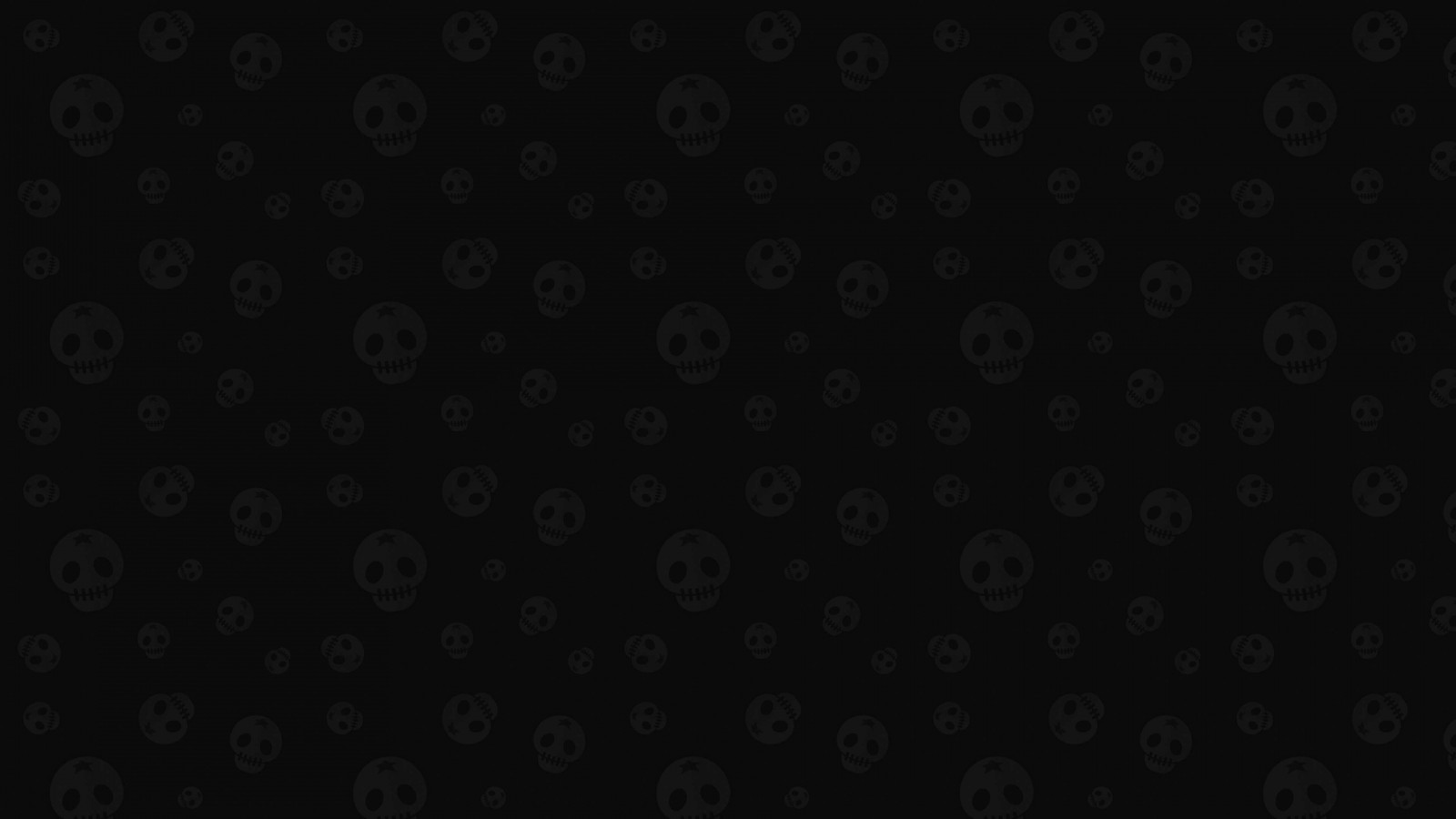 Star Skull Pattern Wallpaper for Desktop 1600x900