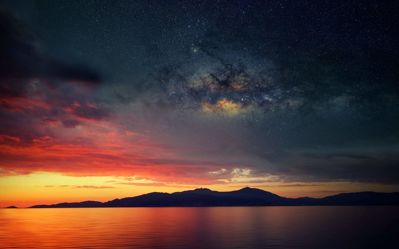 Starry Night Over Corsica Wallpaper for Desktop 1280x800