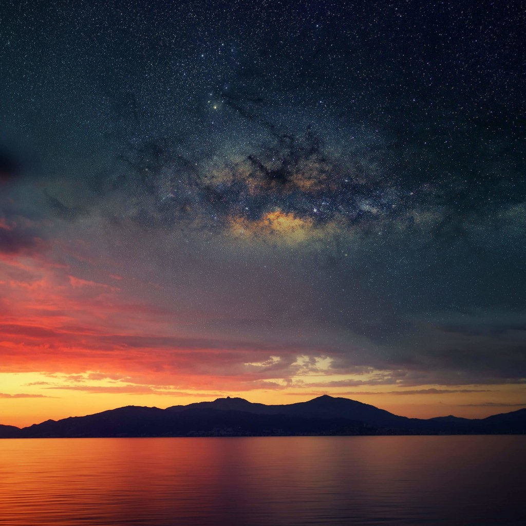 Starry Night Over Corsica Wallpaper for Apple iPad 2