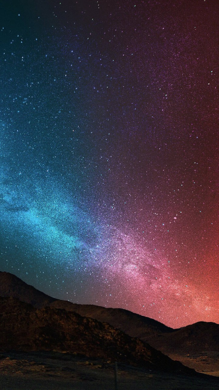 Starry Night Over The Desert Wallpaper for Motorola Droid Razr HD