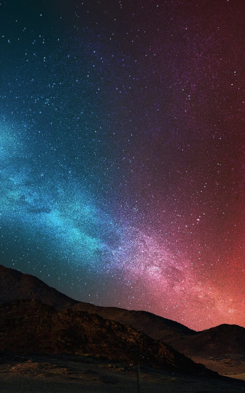 download starry night over the desert hd wallpaper for