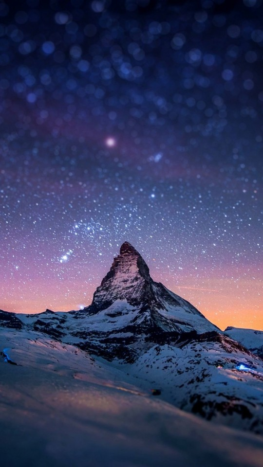 Starry Night Over The Matterhorn Wallpaper for LG G2 mini