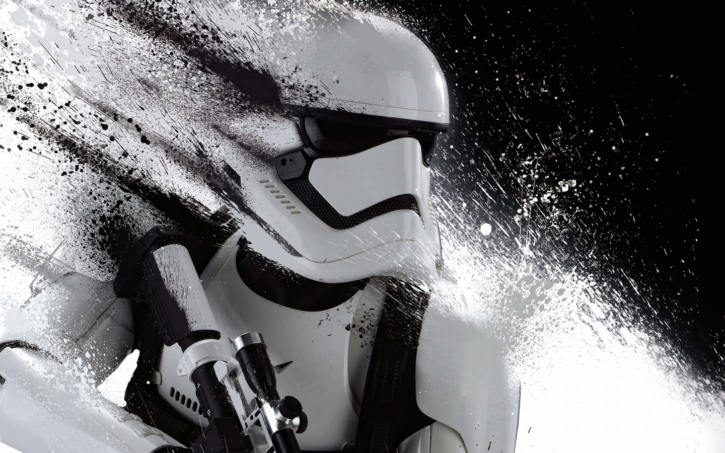 Stormtrooper Splatter Wallpaper for Desktop 1440x900
