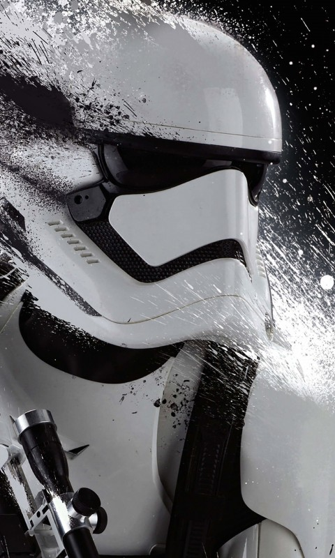 Stormtrooper Splatter Wallpaper for SAMSUNG Galaxy S3 Mini