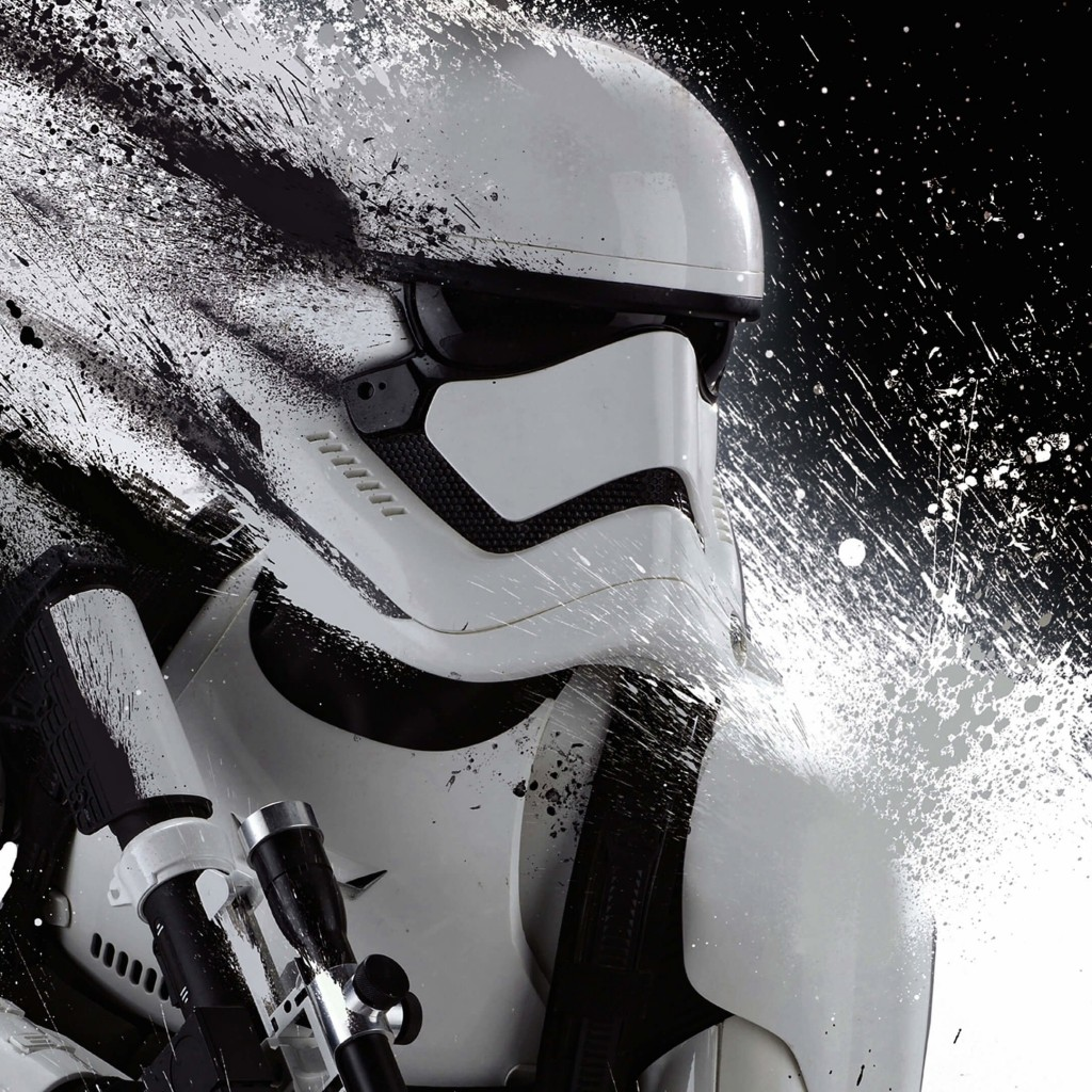 Stormtrooper Splatter Wallpaper for Apple iPad