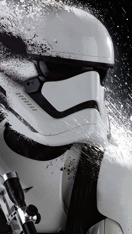 Stormtrooper Splatter Wallpaper for Motorola Moto E