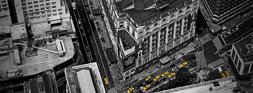 Streets of New York City Wallpaper for Social Media Facebook Cover