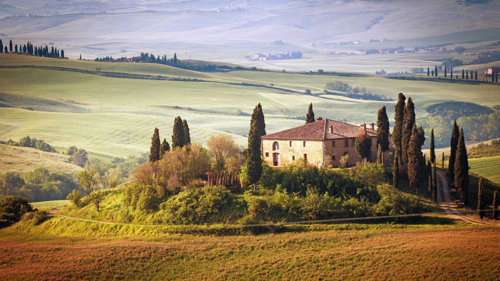 Summer in Tuscany, Italy Wallpaper for Desktop 1920x1080