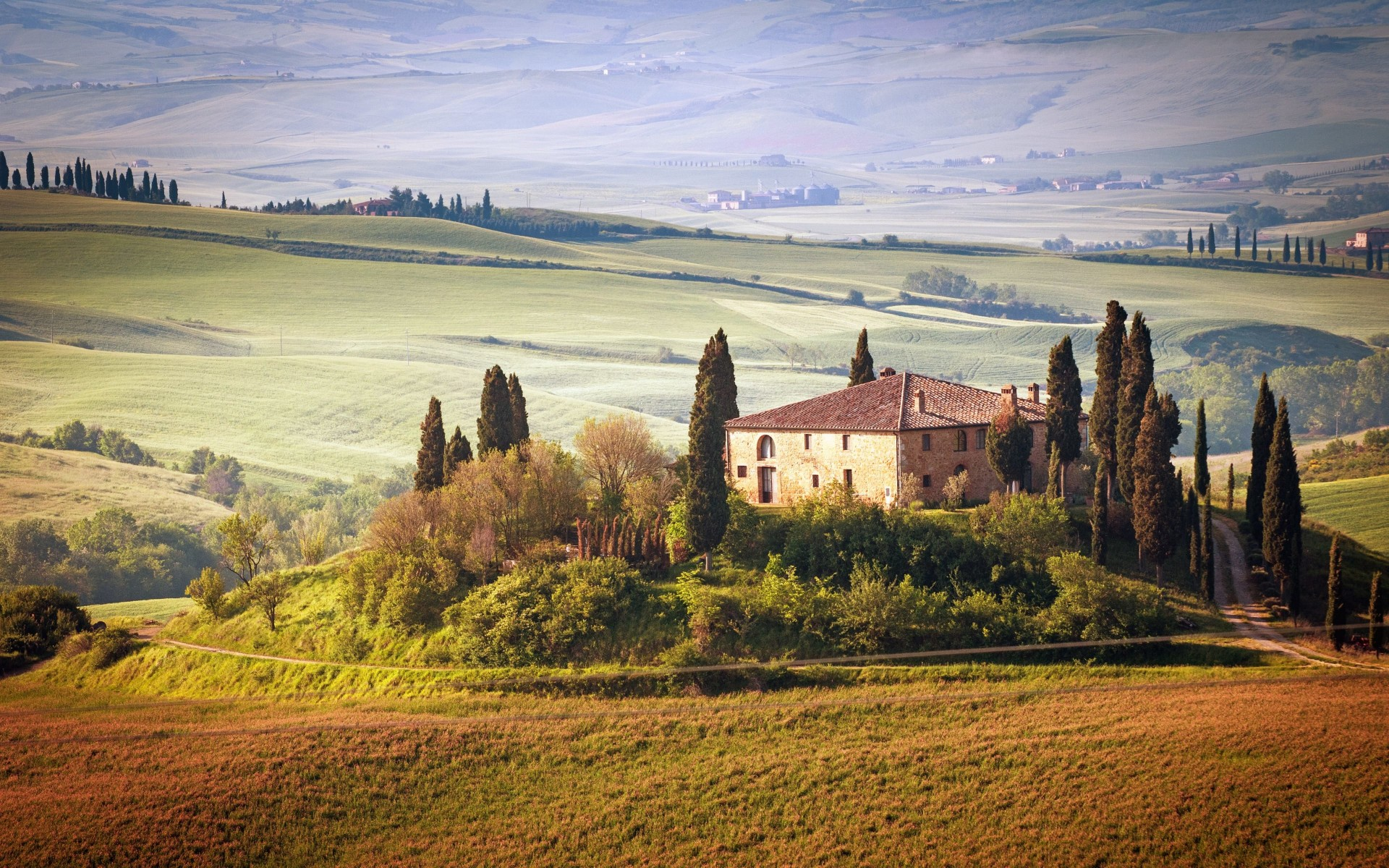Summer in Tuscany, Italy Wallpaper for Desktop 1920x1200