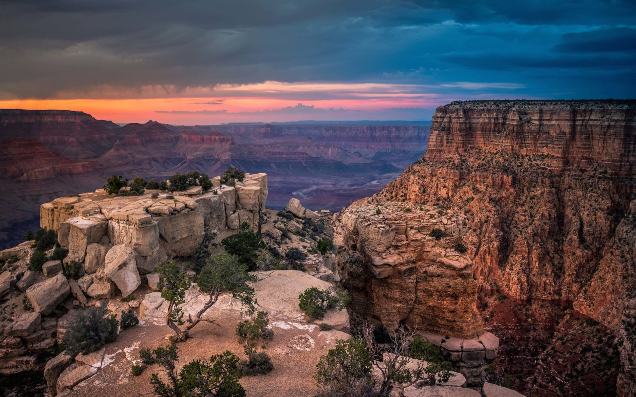 Sunset At The Grand Canyon Wallpaper for Desktop 1280x800