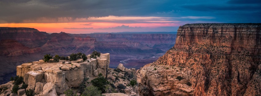 Sunset At The Grand Canyon Wallpaper for Social Media Facebook Cover