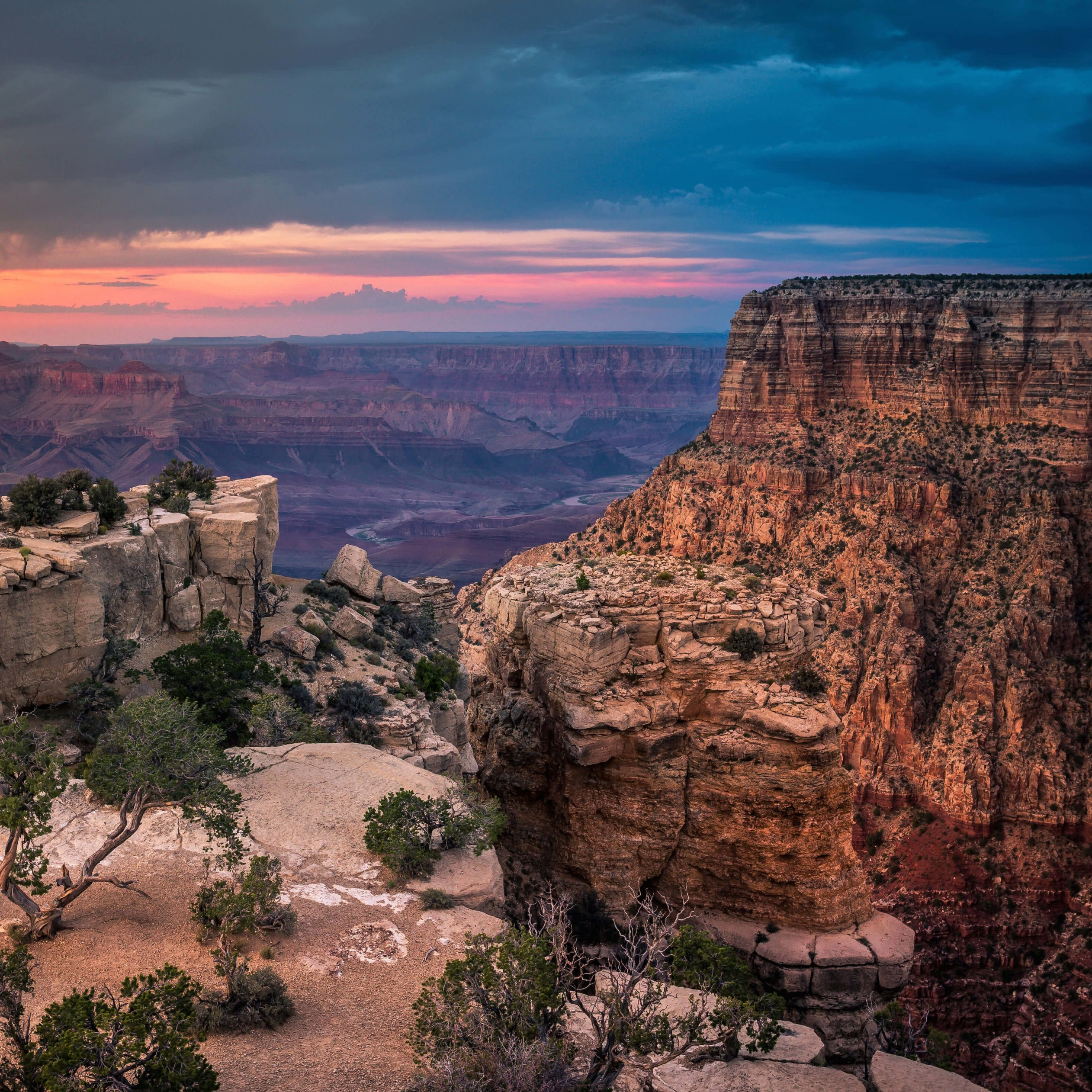 Sunset At The Grand Canyon Wallpaper for Apple iPad mini 2