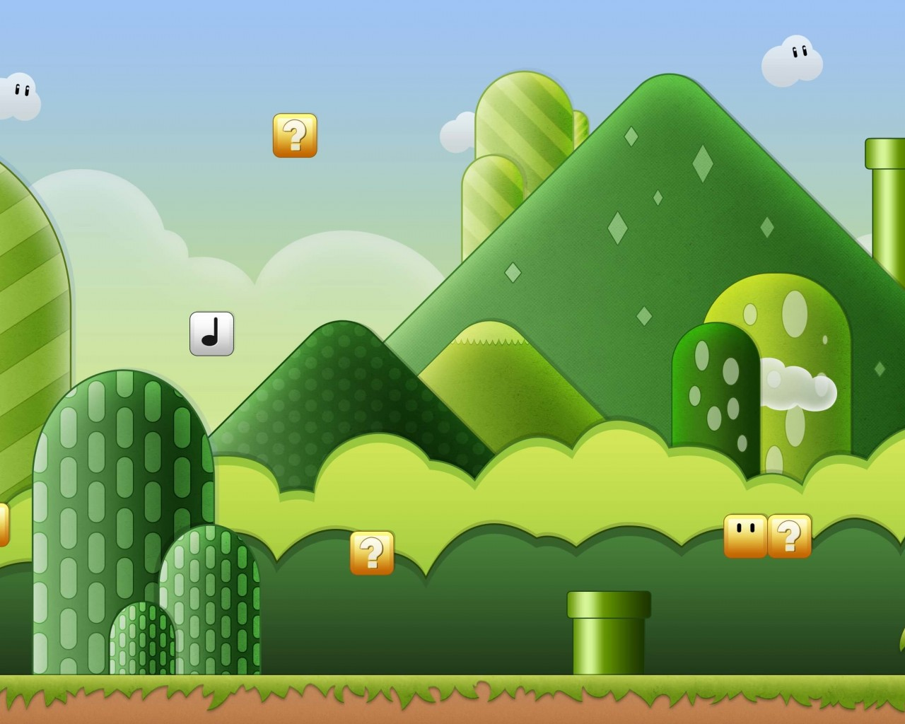 Super Mario Bros World Wallpaper for Desktop 1280x1024