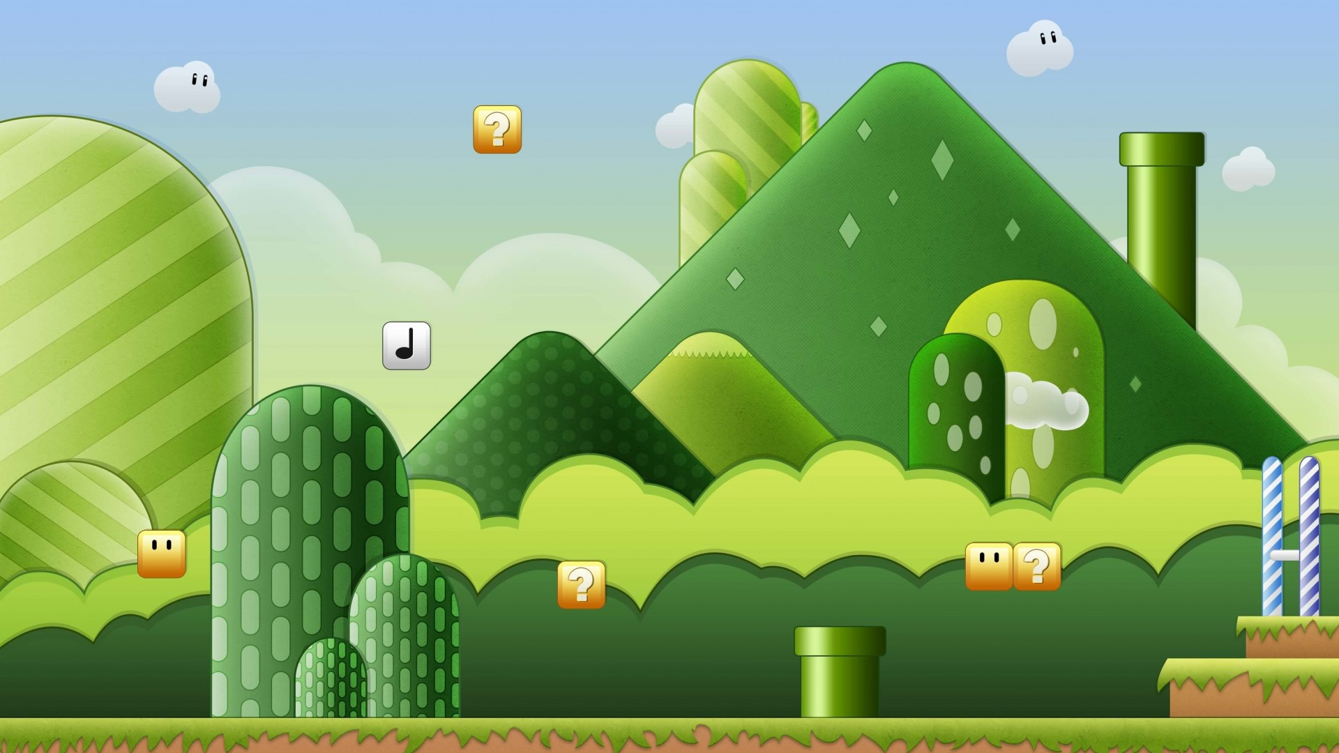 Super Mario Bros World Wallpaper for Desktop 1920x1080