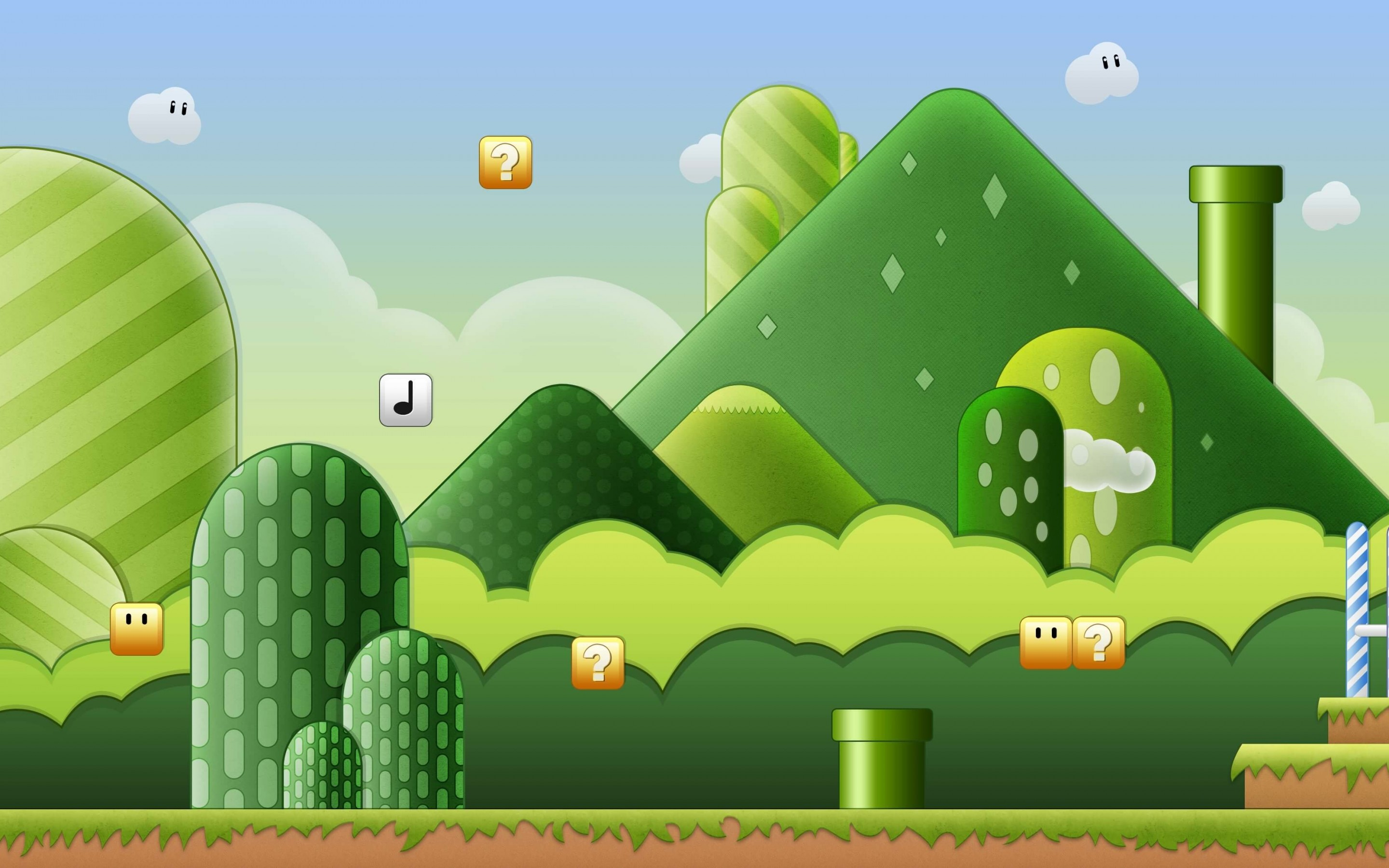Super Mario Bros World Wallpaper for Desktop 2880x1800