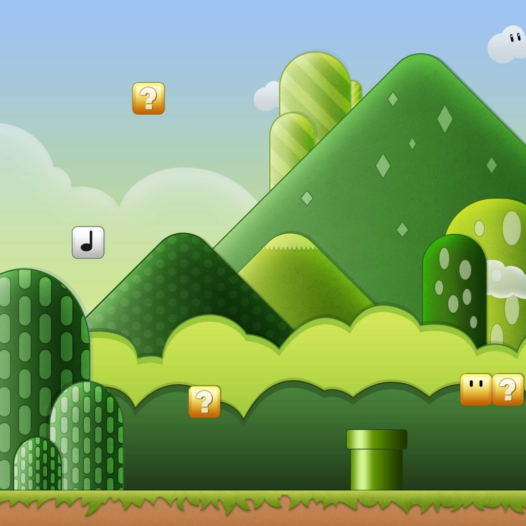Super Mario Bros World Wallpaper for Apple iPad